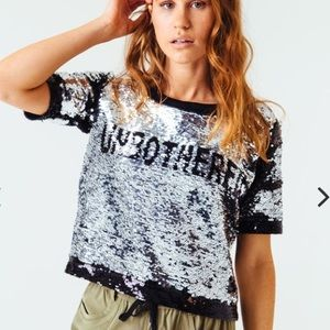 Serena Unbothered Reversible Sequin Tee Size XL